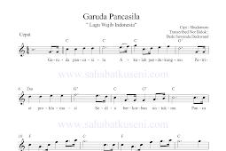 Lagu Garuda Pancasila Not Balok Lirik dan Chord
