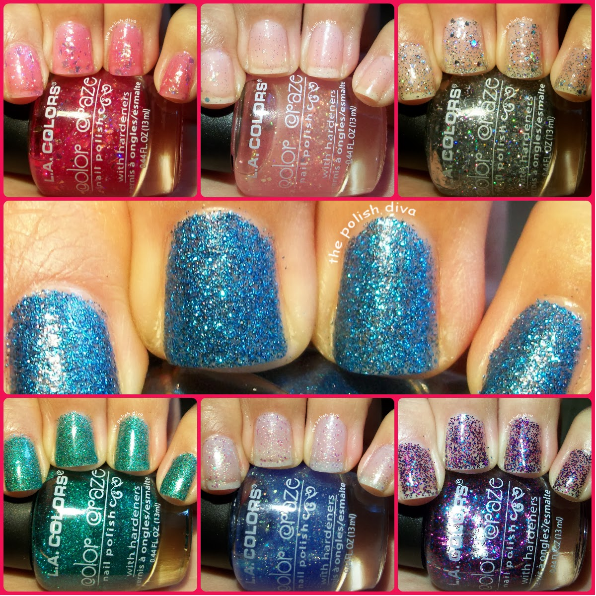 The Polish Diva: LA Colors Swatches and Review, Part 2 (100th Post!)