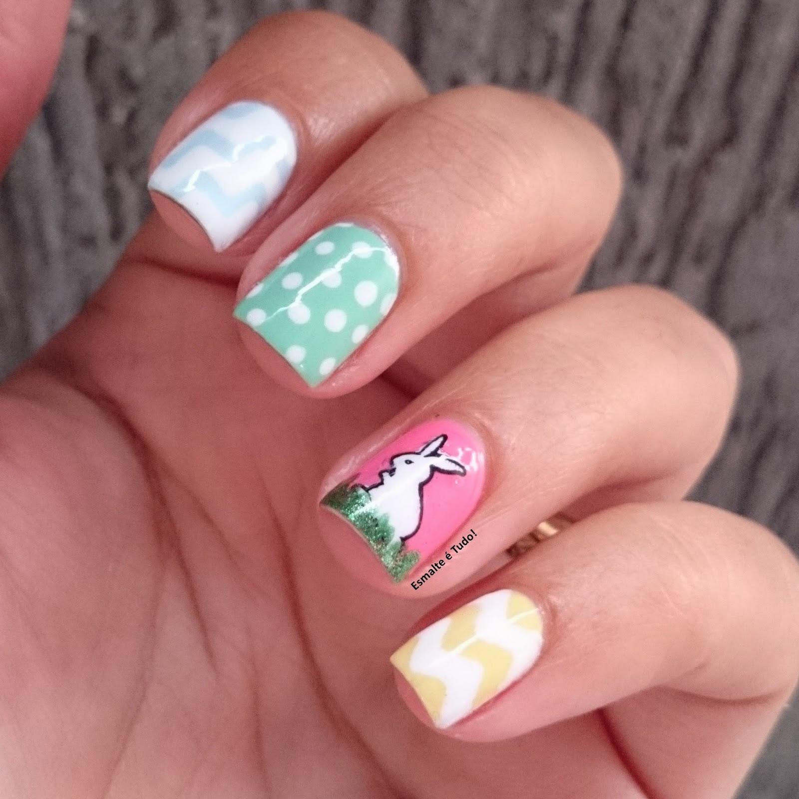 nail art páscoa