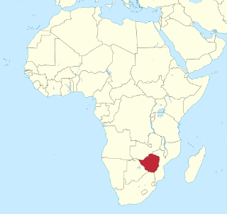 Map of Zimbabwe's location within Africa