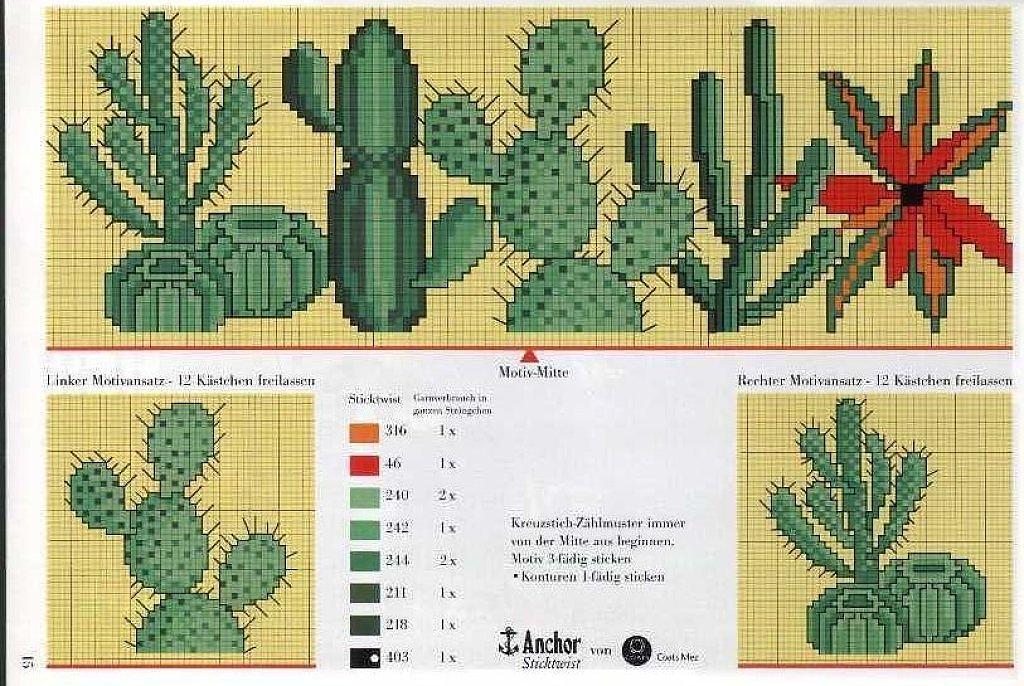 cactus punto de cruz