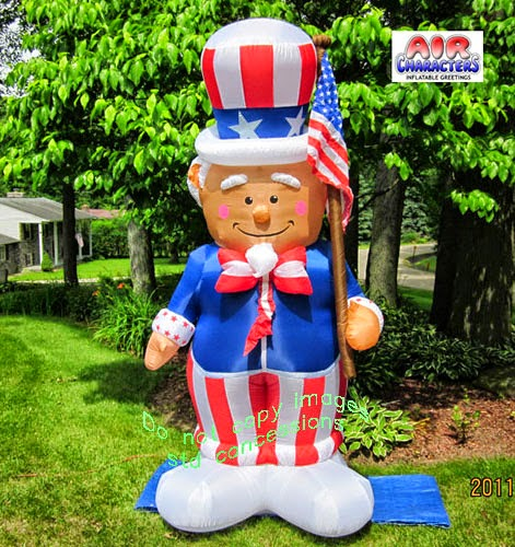 Enter to win the Uncle Sam 8' Inflatable Memorial Day Giveaway. Ends 5/14.