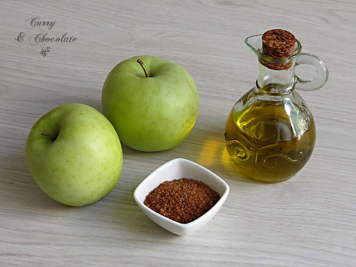 Ingredientes manzana caramelizada