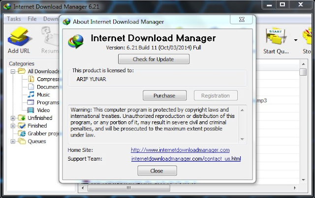 Download IDM 6.21 build 11 Terbaru Full Version