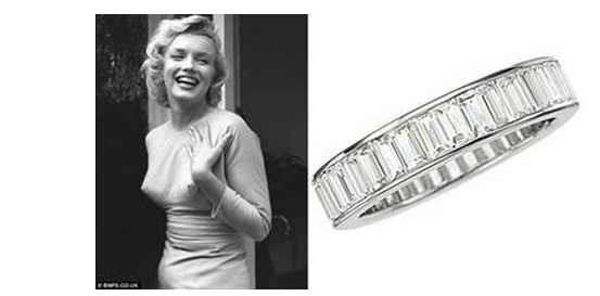 Marilyn Monroes Wedding Ring from Joe DiMaggio to Go on Sale