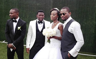 dbanj sister white wedding photos