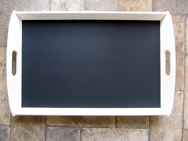www.simpleispretty.com: IKEA Tray Meal Planning Chalkboard