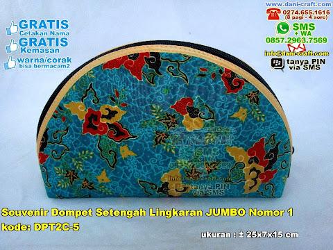 Souvenir Dompet Setengah Lingkaran Jumbo Nomor 1