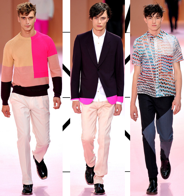 Paul Smith Men's Spring 2014 vibrant sweaters and suits