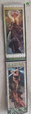 zakładka ciemna, księżyc i gwiazdy, Alfons Mucha, secesja