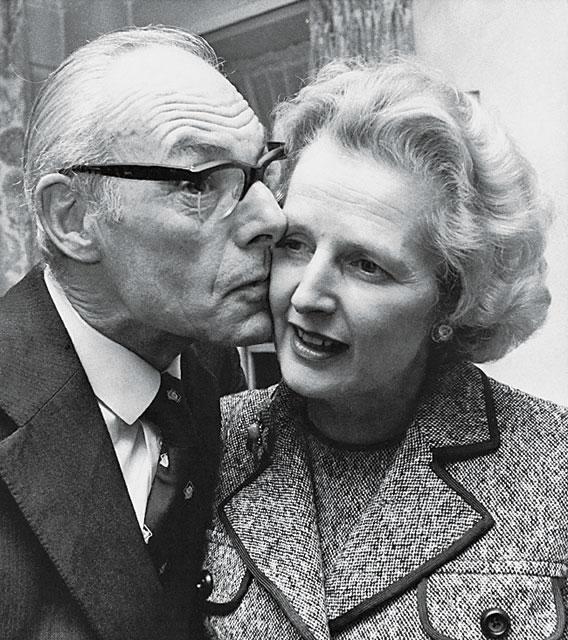 Маргарет Тэтчер с мужем
