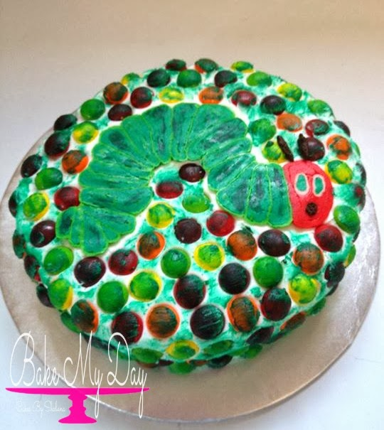 skittle the very hungry caterpillar cake