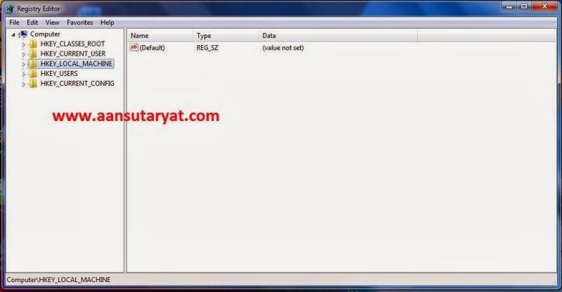Setting Registry Untuk Mempercepat Komputer Dan Laptop Pada Windows 7 Bag. 1