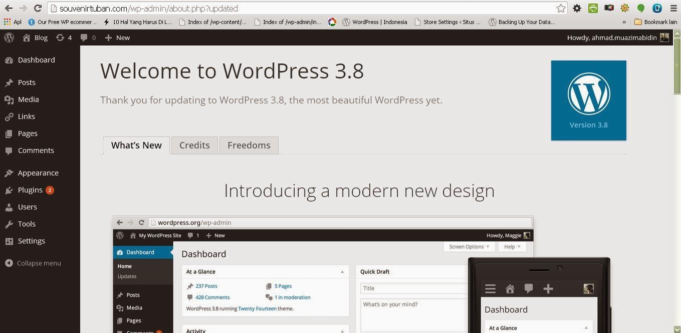 Tampilan yang sangat cantik: Warna hitam, putih yang berani (WordPress 3.8)