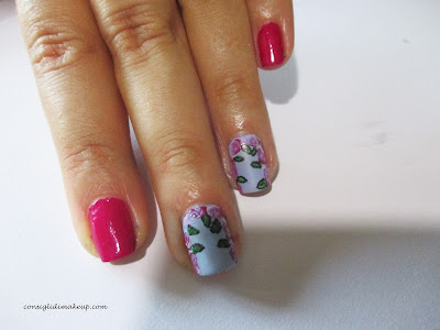 nail art soft rose