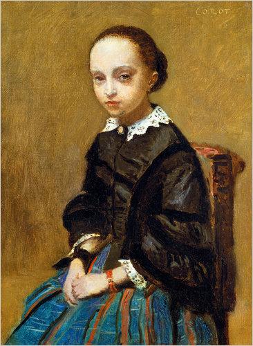 Jean Baptiste Camille Corot Portrait of a Girl