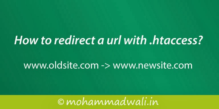 How to redirect a url with .htaccess