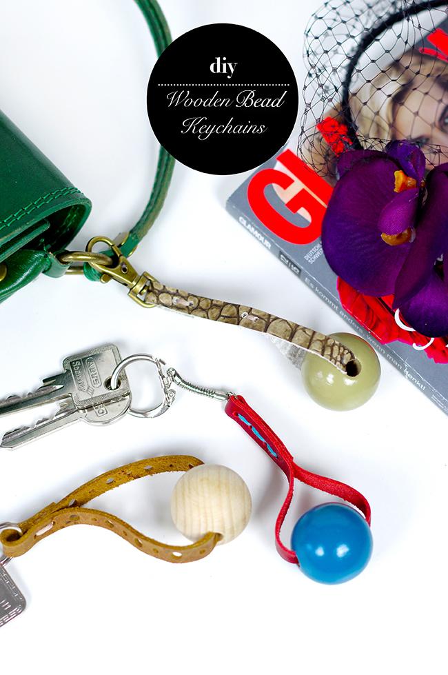 DIY wooden bead keychains via www.fashionrolla.com
