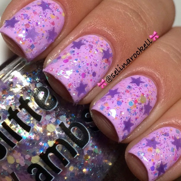 "Glitter Lambs ""Lilac Mascara"" Glitter Topper Nail Polish Fashion Makeover Collection"