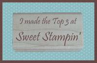 Excited to have won the Top 3 at Sweet Stampers