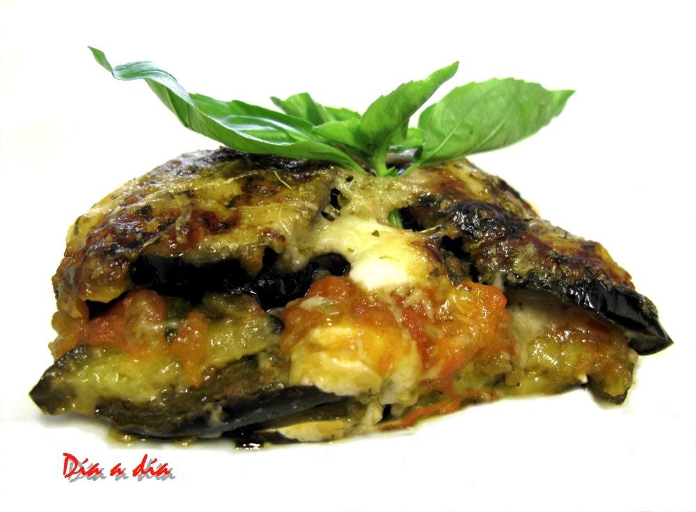 D a a d a berenjenas al horno con queso - Berenjenas con mozzarella ...