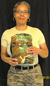 "Sandra with her Holy Bible inside ""Army"" Case"