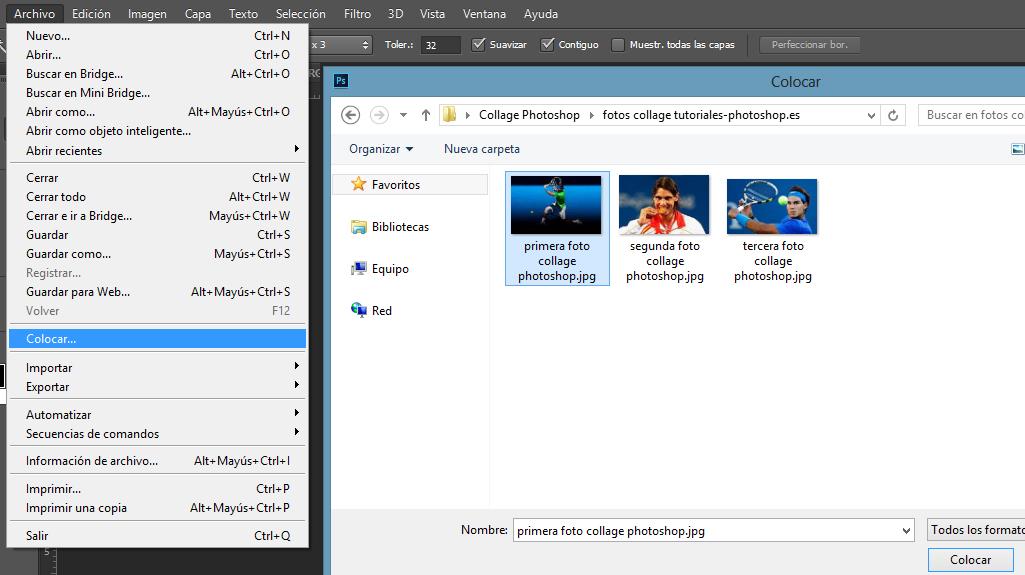 Tutoriales Photoshop: Tutorial Photoshop: Insertar imágenes
