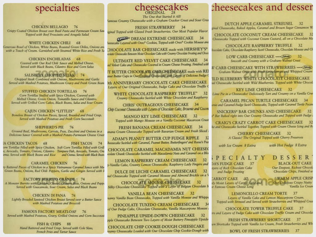 Nov 19, · Reserve a table at The Cheesecake Factory, Dubai on TripAdvisor: See unbiased reviews of The Cheesecake Factory, rated of 5 on TripAdvisor and ranked # of 10, restaurants in Dubai/5().