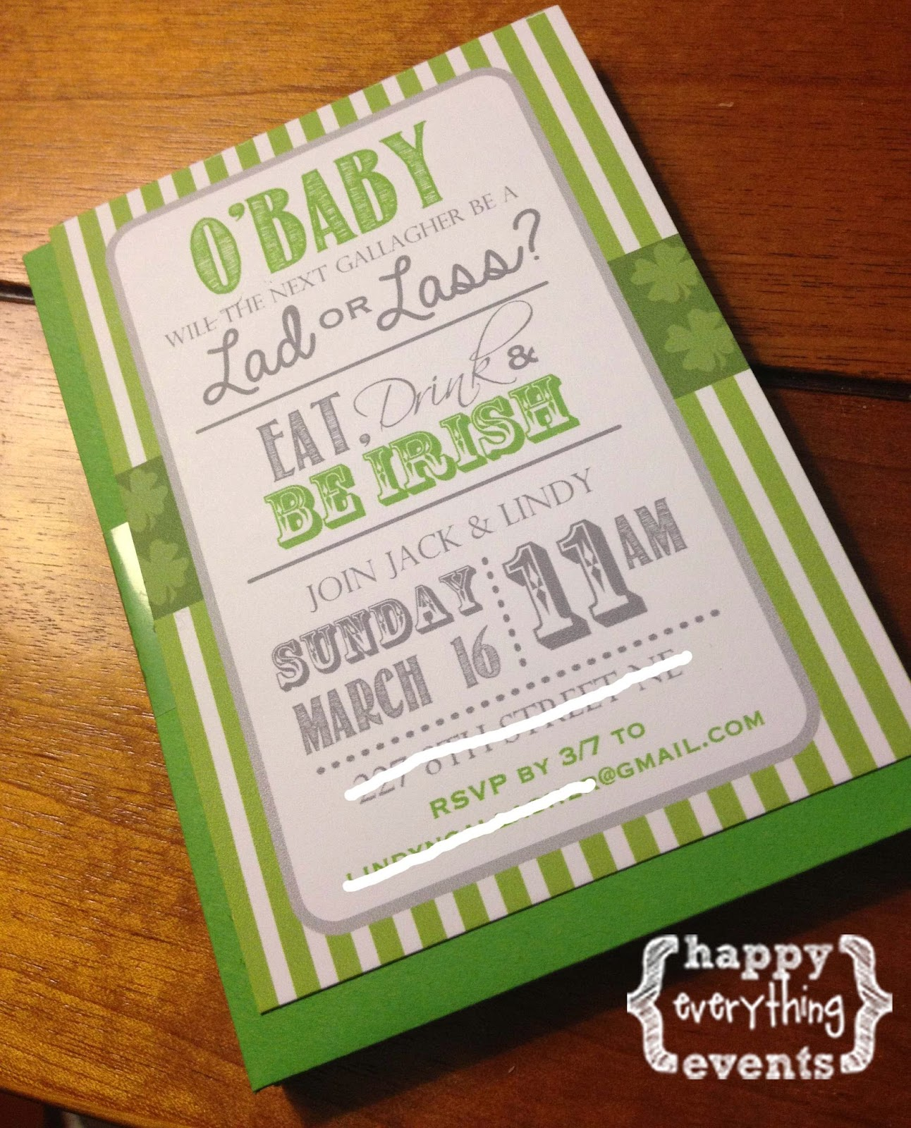 Happy Everything: Gallagher Gender Reveal- A St. Patrick\'s Day Party!