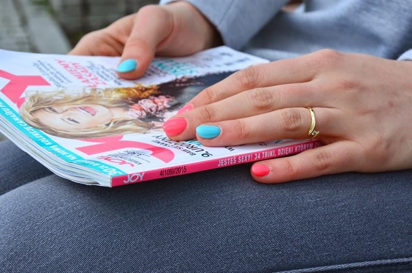 paznokcie niebiesko różowe