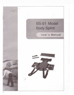 Manual Book Body Splint BS-01