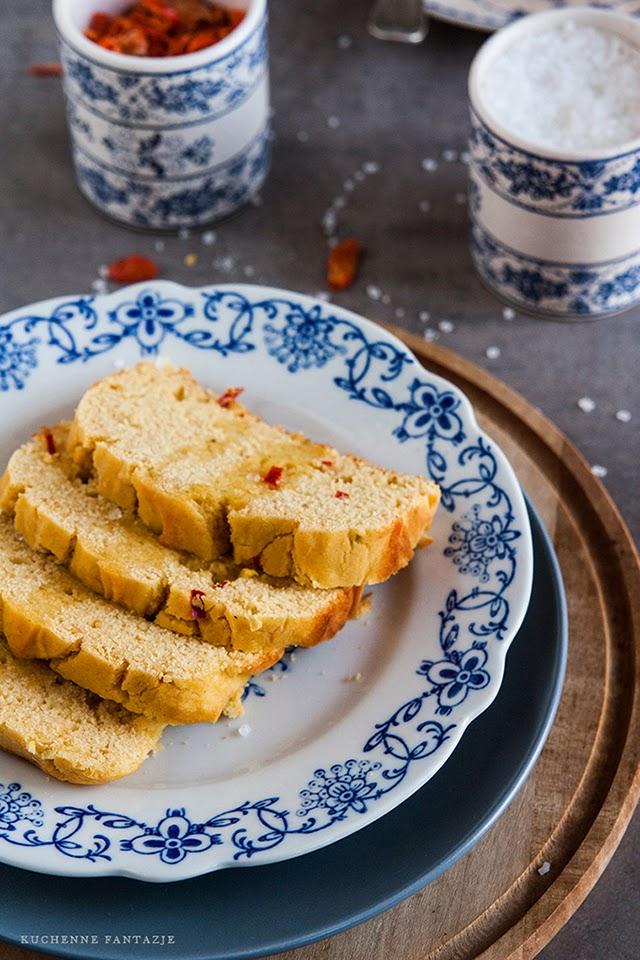 chleb, kukurydziany, chilli, przepis, pikantny, domowy, na proszku do pieczenia