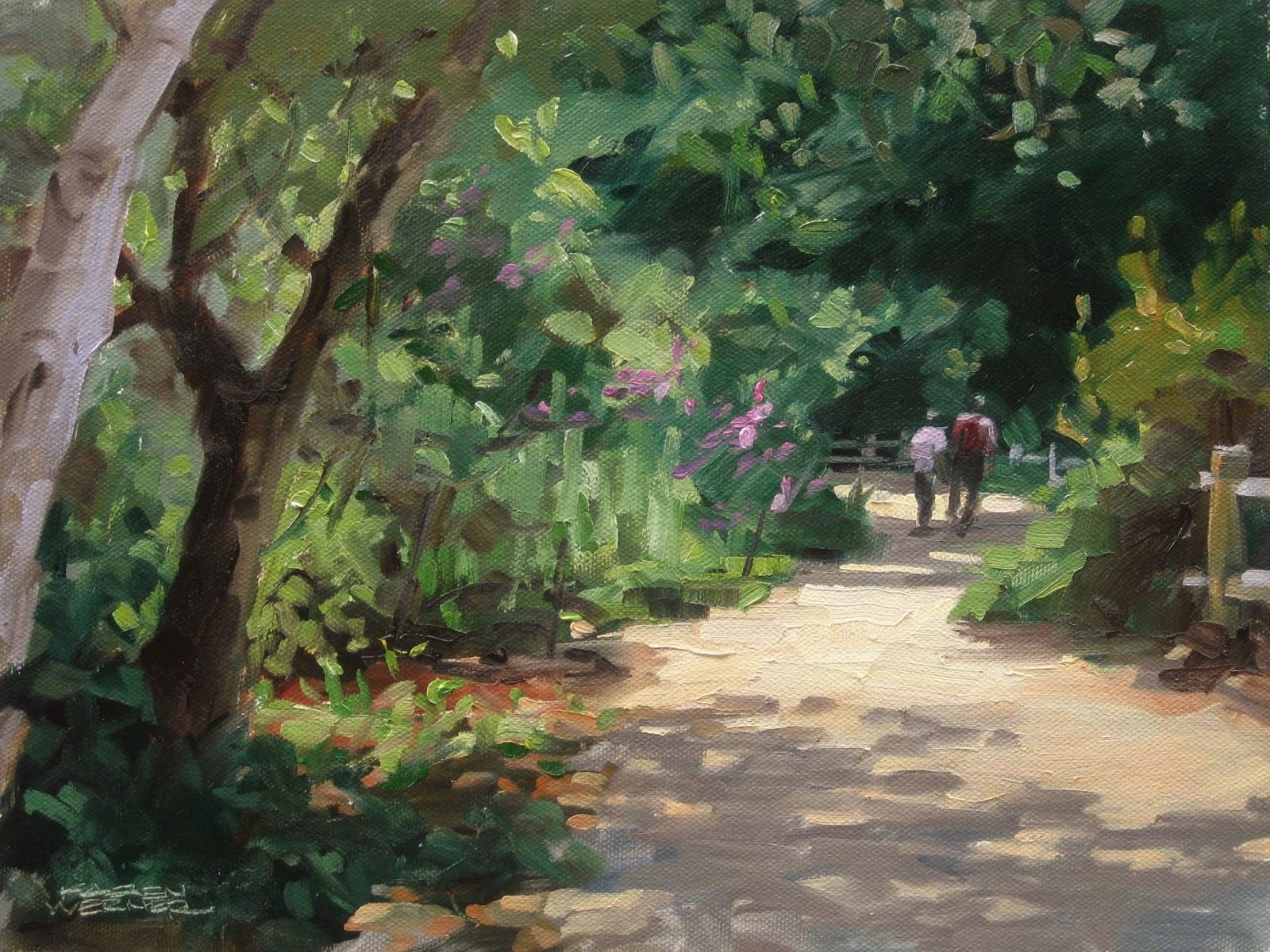 Botanical Stroll  A Plein Air Oil Painting From Rancho Santa Ana Botanic  Gardens