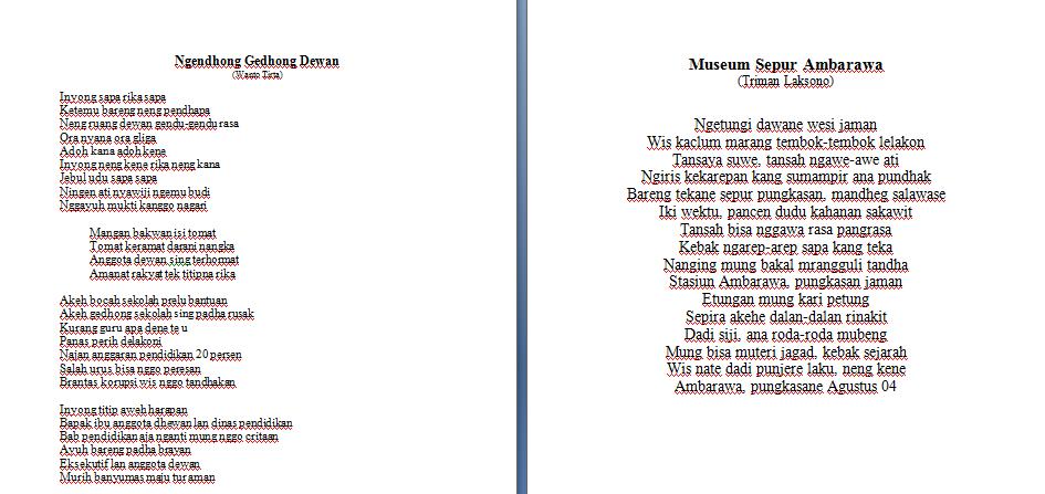 Download Kumpulan Geguritan Basa Jawa Puisi Jawa Detabaze S Blog