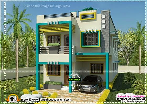 Flat roof Tamilnadu house