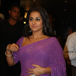 Vidya Balan Sexy In Transparent Saree At The 7th Anniversary Party Of Star News Show 'Saas Bahu Aur Saazish'