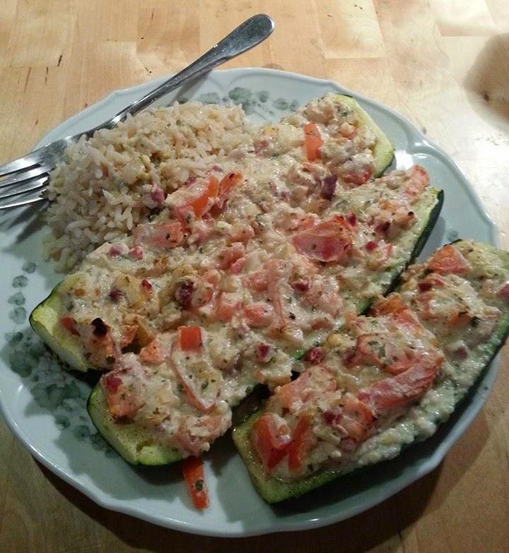 Lecker und kalorienarm kochen gef llte zucchini for Kochen zucchini