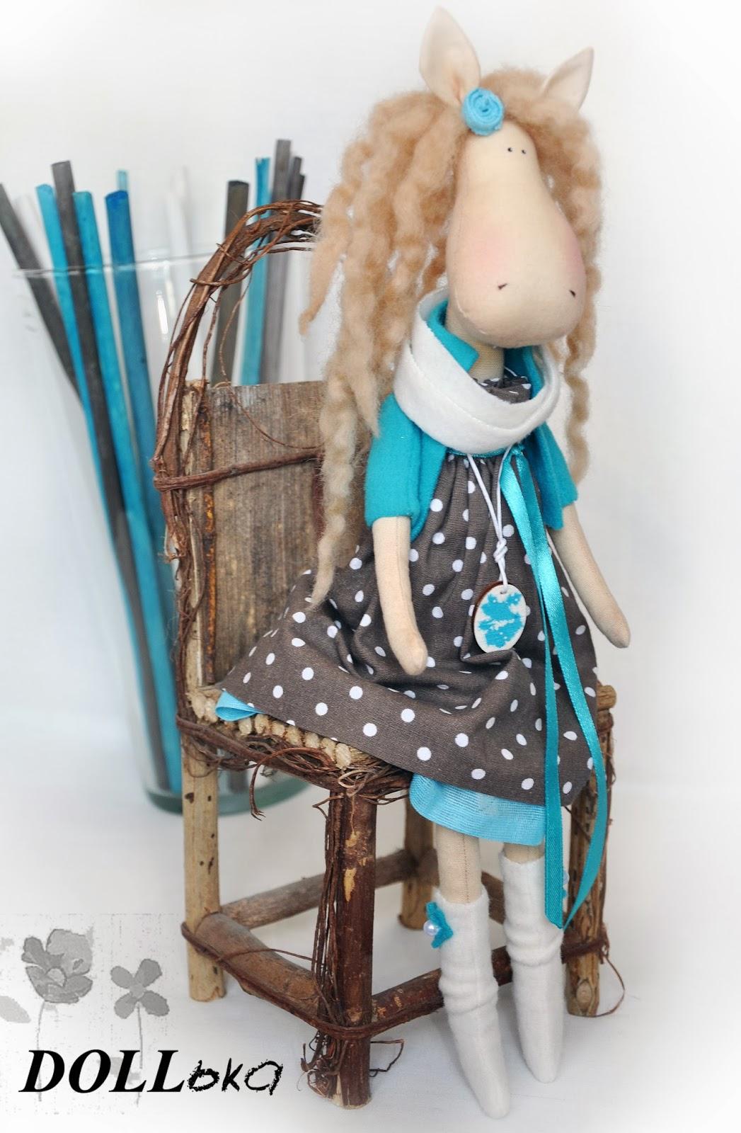 лошадка Синнабон текстильная игрушка ручной работы
