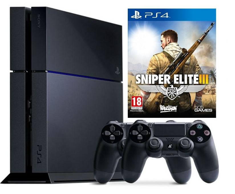Spesifikasi dan Harga Sony PS 4 500GB + DVD PS4 Snipper EliteIII + 2 Stik