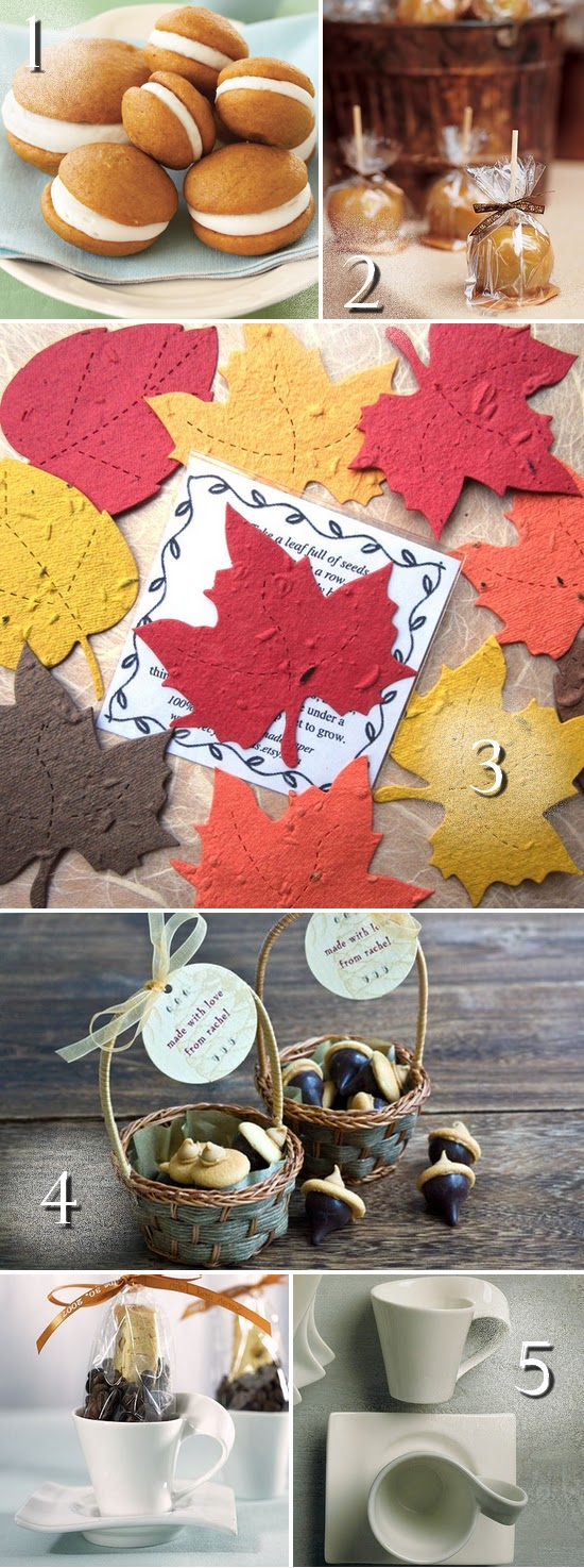 5 Fabulous Fall Wedding Favors