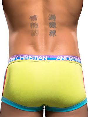 Andrew Christian RetroPop Pocket Boxer Underwear Lime Back Gayrado Online Shop