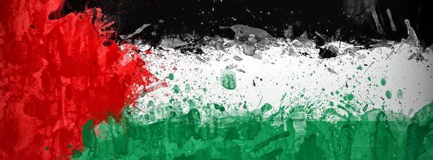 Couverture facebook drapeau palestine