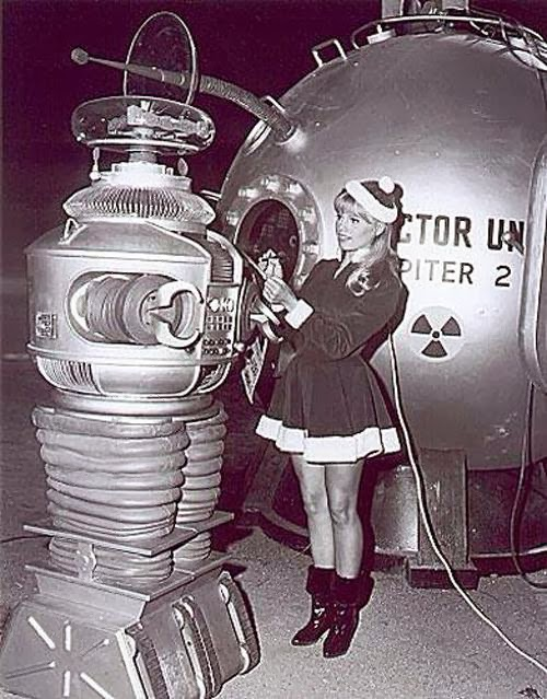 Lost in Space robot marta Kristen Christmas holiday.filminspector.com