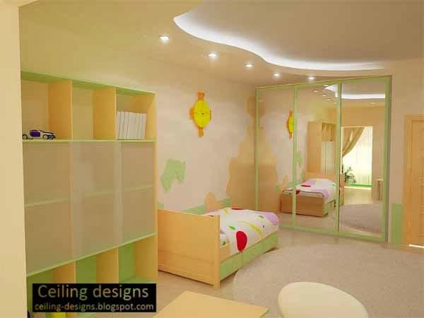 curved ceiling design for kids room with ceiling lighting children bedroom lighting