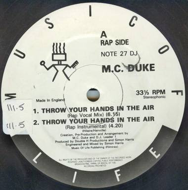 MC Duke & DJ Leader 1 ‎– Throw Your Hands In The Air (1989, 2X12'', 192)