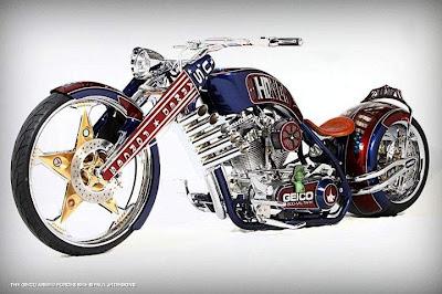 Geico motocicleta tributo militar por Paulo JR Designs