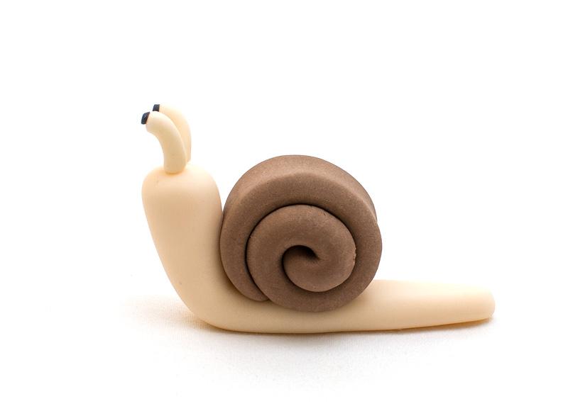Snail fondant