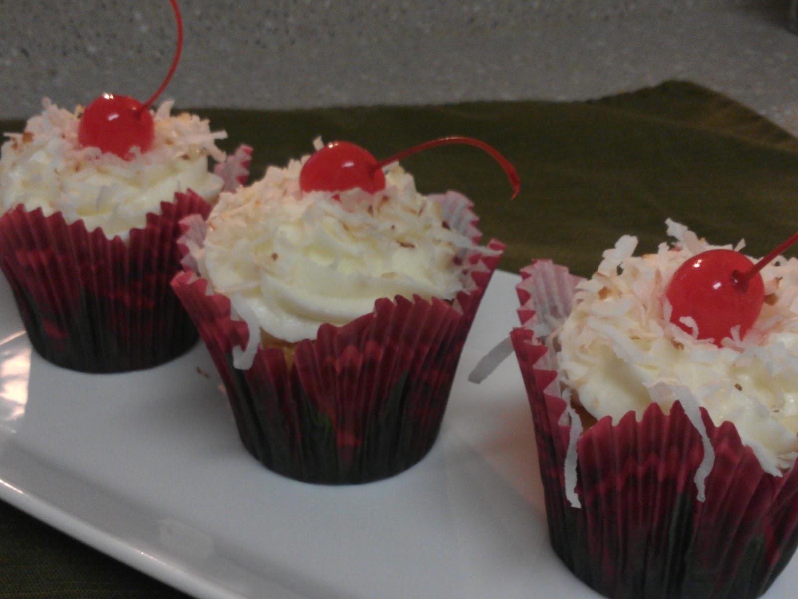Baker Becky: Pina Colada Cupcakes
