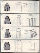 Чертежи моделей юбок