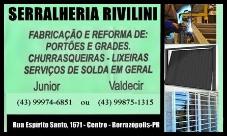 BORRAZÓPOLIS - Serralheria Rivilini